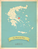 Greece My Roots Map  blue version (includes stickers)