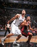 Oct 17  2013  Miami Heat vs Brooklyn Nets - Brook Lopez  Shane Battier