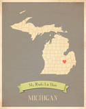 Michigan My Roots Map  clay version (includes stickers)