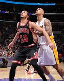 Feb 9  2014  Chicago Bulls vs Los Angeles Lakers - Joakim Noah  Robert Sacre