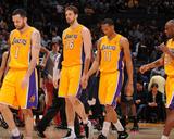Mar 4  2014  New Orleans Pelicans vs Los Angeles Lakers - Pau Gasol  Wesley Johnson  Jordan Farmar