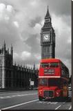 Bus rouge londonien Tableau sur toile