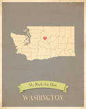 Washington My Roots Map  clay version (includes stickers)