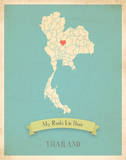 Thailand My Roots Map  blue version (includes stickers)