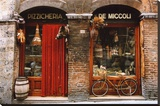 Bicycle Parked Outside Historic Food Store  Siena  Tuscany  Italy