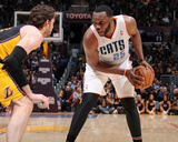 Jan 31  2014  Charlotte Bobcats vs Los Angeles Lakers - Al Jefferson  Pau Gasol
