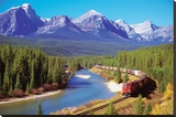Train In The Rockies Tableau sur toile