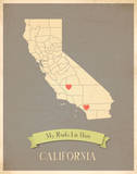 California My Roots Map  clay version (includes stickers)