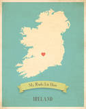 Ireland My Roots Map  blue version (includes stickers)