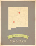 New Mexico My Roots Map  clay version (includes stickers)