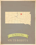 South Dakota My Roots Map  clay version (includes stickers)