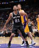 Mar 14  2014  San Antonio Spurs vs Los Angeles Lakers - Tim Duncan  Pau Gasol