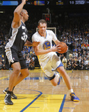 Mar 22  2014  San Antonio Spurs vs Golden State Warriors - David Lee  Boris Diaw