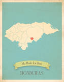Honduras My Roots Map  blue version (includes stickers)