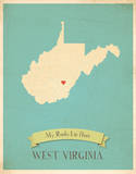 West Virginia My Roots Map  blue version (includes stickers)