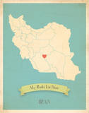 My Roots Iran Map - blue
