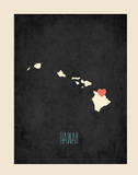 Personalized Vintage Hawaii State Map