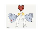 I Love You So, c. 1958 (angel) Reproduction d'art par Andy Warhol
