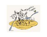 Spaghetti is So Slippery, c. 1958 Reproduction d'art par Andy Warhol