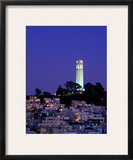 Coit Tower  Telegraph Hill at Dusk  San Francisco  USA