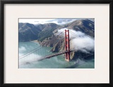 Autumn Fog Surrounds the Golden Gate Bridge  San Francisco Bay  California  October 2005