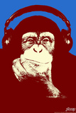 Headphone Chimp - Red