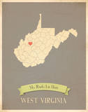 West Virginia My Roots Map  clay version (includes stickers)
