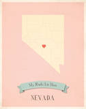 Nevada My Roots Map  pink version (includes stickers)