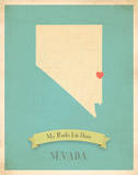 Nevada My Roots Map  blue version (includes stickers)