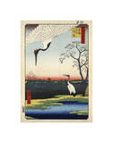 Two Cranes from Meisho Yedo Hiakkei (One Hundred Famous Views of Edo)