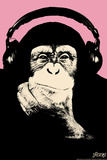 Headphone Chimp - Pink
