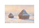 Wheatstacks  Snow Effect  Morning  1891