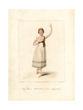 Felicite Hullin  Dancer in La Paysanne Supposee  1822