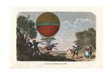 Descent of Jean-Pierre Blanchard's Hydrogen Balloon  1784