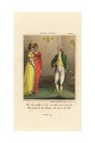 Regency Gentleman and Two Elegant Ladies at a Ball