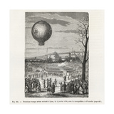 Third Voyage of the Montgolfier Balloon Le Flesselles at Lyon
