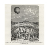 First Hydrogen Balloon Flight by Professor Jacques Charles