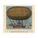 Flight of a Dirigible Hydrogen Balloon by the Robert Brothers