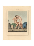Painting from Resina- Hermaphrodite and Faun