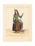Persian Woman Playing a Kamanche (Violin)  19th Century