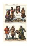 Samoyedic People of Siberia and Shaman with Drum
