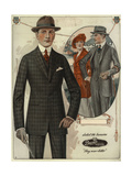 Men's Conservative Single-Breasted Suits from the 1920s