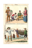 Costumes of China: Tiger Guard  Monk  Barber and Bird Fishermen