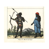 Fulup Man with Weapons and Mandingo Man in Robe and Turban