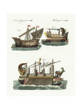 Phoenician Merchant Ship  Warship  and Floating Castle of King Hiero