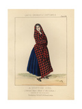 Scottish Girl Wearing the Sinclair Tartan  19th Century