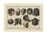 Masks of Mutes  Comedy  Tragedy  of Two Satyrs and a Faun