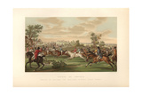 French Fox Hunt on Horseback  Circa 1800