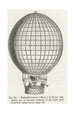 Fourth Voyage in a Montgolfier Balloon  at Milan  1784