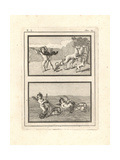 Vignettes of Cupids or Genii Playing at Hunting and Racing